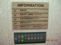 Panel del ascensor