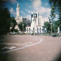 Típica foto en Plaza de Mayo