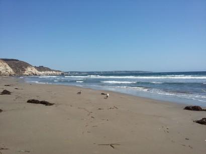 bajamos a la playa y no había nadie