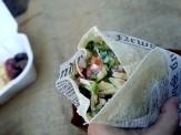 Burrito de pollo que tenía de todo