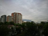 con día nublado